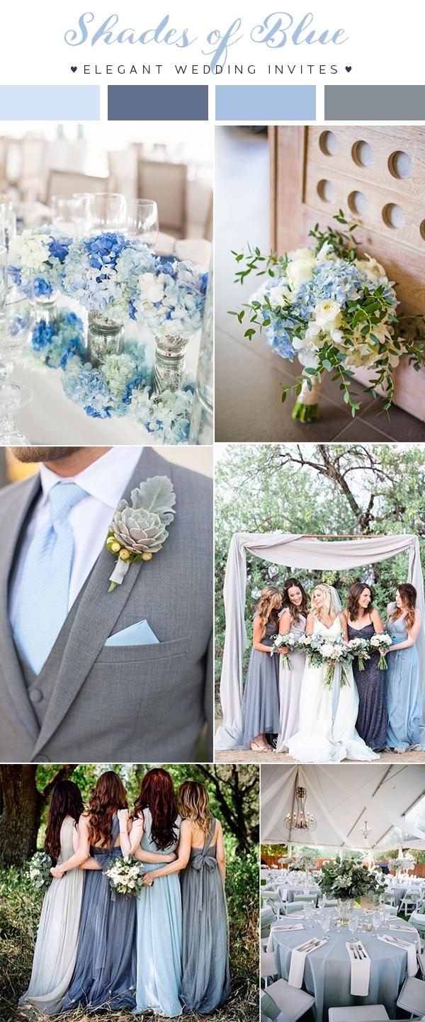 Bleu - nunta decor